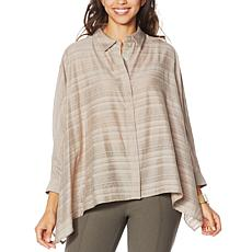 """As Is"" WynneLayers Sheer Gauzey Unstructured Shirt"