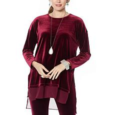 """As Is"" WynneLayers Stretch Velvet Tunic"