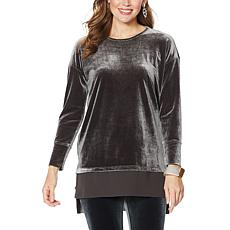 """""""As Is"""" WynneLayers Stretch Velvet Tunic Top"""