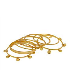 Asa Jewelry Goldtone 7-piece Bangle Bracelet Set