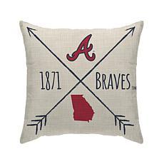 "Atlanta Braves 18""X18"" Duck Cloth  Décor Pillow"