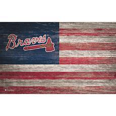 Atlanta Braves Distressed Flag 11x19