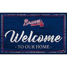 "Atlanta Braves Team Color Welcome Sign - 11x19"""