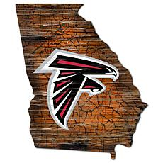 Atlanta Falcons Distressed State with Logo