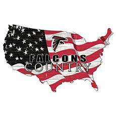 Atlanta Falcons USA Shape Flag Cutout