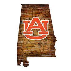 Auburn University Distressed State with Logo