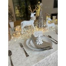 august & leo 6-piece Christmas Tree Place Card Holder Set