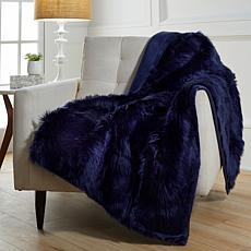 """august & leo Luxe Long Hair Faux Fur 60"""" x 50"""" Throw"""