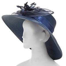 August Hat Company Fine Millinery Feather Flower Dressy Hat