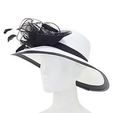 August Hat Company Fine Millinery Organza Bow Dressy Hat