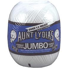 Aunt Lydia's Jumbo Crochet Cotton - White