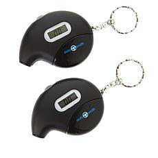 AutoSmith Set of 2 Digital Talking Tire Gauge Keychains