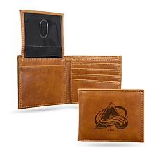 Avalanche Laser-Engraved Billfold Wallet - Brown
