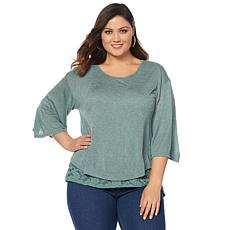 B Collection by Bobeau Layered Top - Plus
