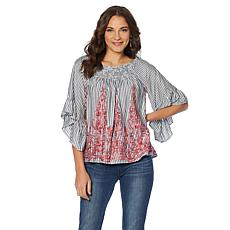 B Collection by Bobeau Off-the-Shoulder Boho Top