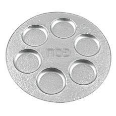 "Badash Handcrafted Silver Decor 13"" Glass Seder Plate"