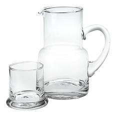 Badash Long Island Glass Bedside or Desktop Carafe 2-piece Set