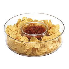 Badash Manhattan European Mouth-Blown Crystal Chip and Dip Dish