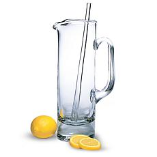 Badash Manhattan Lead-Free Crystal Martini Pitcher and Stirrer