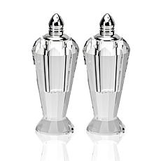 Badash Preston Platinum Lead-Free Crystal Salt and Pepper Shakers