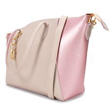 Badgley Mischka Caroline Vegan Leather Tote Weekender Travel Bag