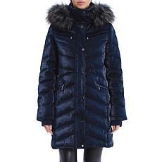 Badgley Mischka Iridescent Puffer Jacket