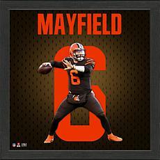 Baker Mayfield Impact Jersey Framed Photo