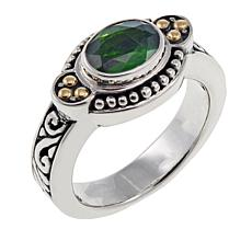 Bali Designs 1.05ct Oval Chrome Diopside Scrollwork Ring