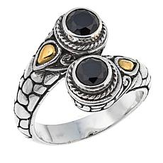 Bali Designs 1.3ctw Round Black Spinel Bypass Ring
