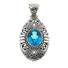 Bali Designs 2.02ct Paraiba-Color Quartz Scrollwork Pendant
