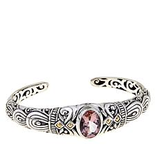 Bali Designs 4.34ct Morganite-Color Quartz Bangle