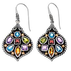 Bali Designs 5.56ctw Multigemstone Drop Earrings