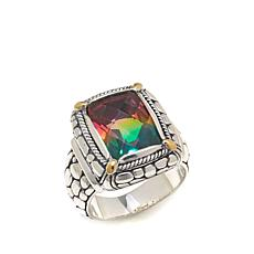 Bali Designs 5.5ctw Watermelon Quartz Doublet Ring