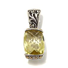 Bali Designs 5.6ctw Cushion Lemon Quartz 2-Tone Pendant