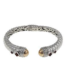 "Bali Designs ""Acintya"" Madeira Citrine and Garnet Bracelet"
