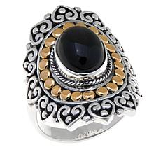 Bali Designs Black Star Diopside Amulet Ring