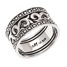 "Bali Designs ""BroManse"" Scrollwork Wide-Band Ring"