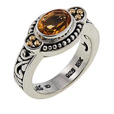 Bali Designs by Robert Manse 1.14ct Oval Citrine Scrollwork Ring