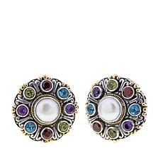 Bali Designs Cultured Freshwater Pearl & Gem Earrings