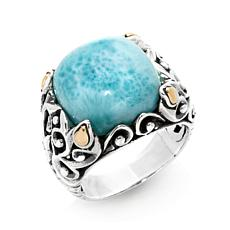 Bali Designs Cushion-Cut Larimar Ring