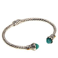 Bali Designs Faceted Amazonite Cable Cuff Bracelet