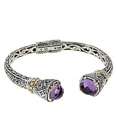 Bali Designs Faceted Gemstone Fleur-de-Lis Cuff