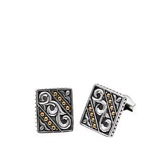 Bali Designs Men's 2-Tone Scrolled Cuff Links