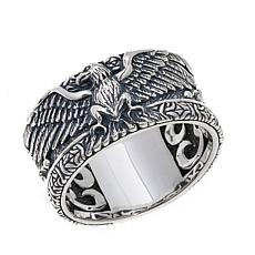Bali Designs Men's Carved Eagle Sterling Silver Band
