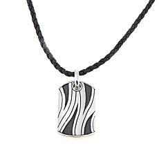 Mens necklaces pendants hsn bali designs mens zebra stripe pendant with 22 cord aloadofball Image collections