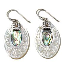 Bali Designs Mother-of-Pearl and Abalone Inlay Earrings