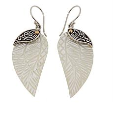 Bali Designs Mother-of-Pearl Carved Wing Earrings
