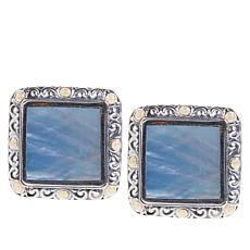 Bali Designs Mother-of-Pearl Scrollwork Stud Earrings