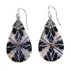 Bali Designs Multicolor Mother-of-Pearl Pear Earrings