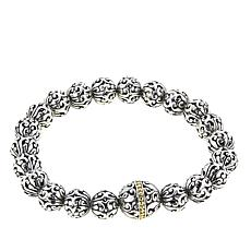 Bali Designs Scrollwork Bead Stretch Bracelet